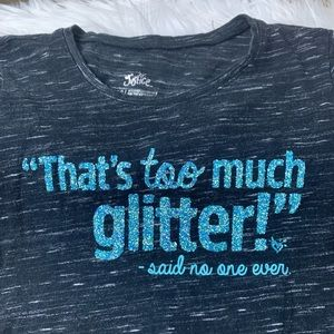 """""""Glitter"""" Embellished Tee by Justice"""